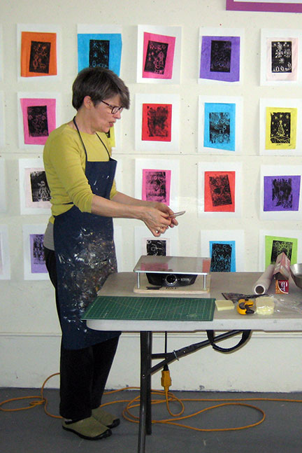 Teaching the e*graphics process at Kalamazoo Book Arts