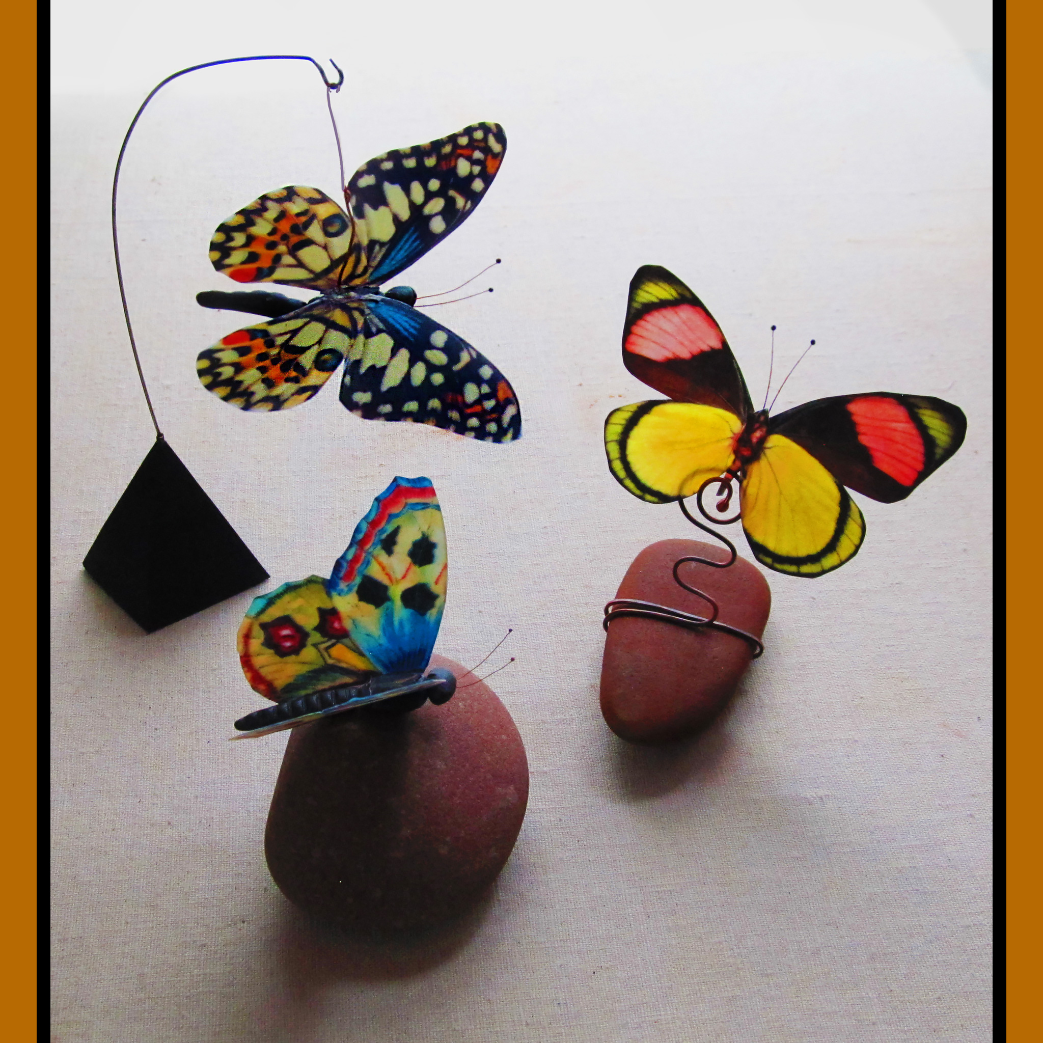 Butterflies made from encaustigraphics